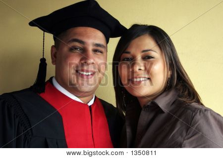 University Graduation Celebrates His Success With His Girlfriend