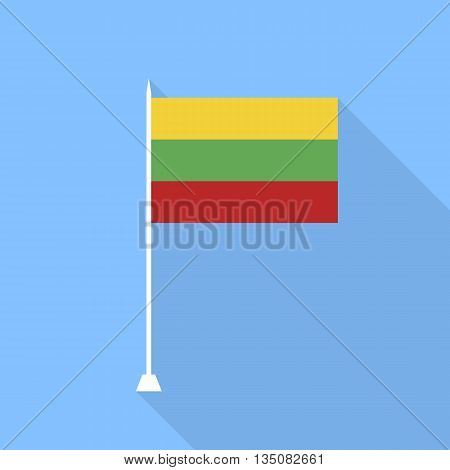 Lithuanian flag. Vector illustration in a flat style.