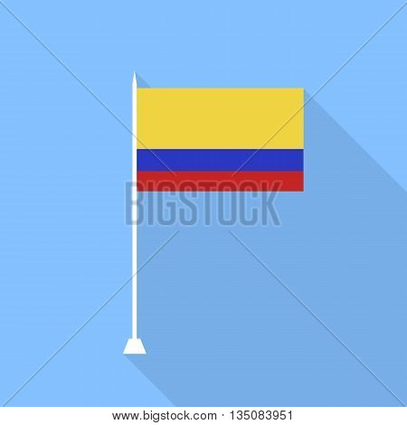 Colombia Flag. Vector illustration flat style .