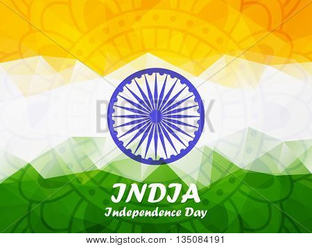 Indian Independence Day Polygonal Background