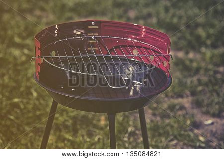 New Grill Ready To Use In Garden