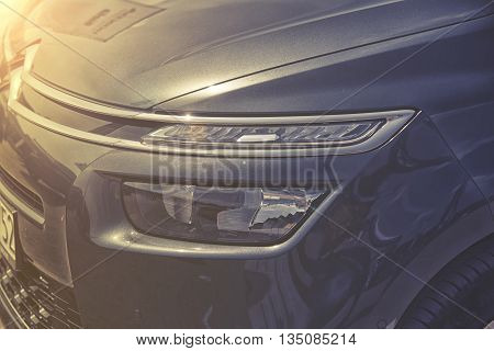 Wroclaw, Poland, May 28, 2016: Close Up On Citroem C4 Picasso On Motoshow On May 28, 2016 In Poland