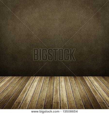 interior da casa de madeira
