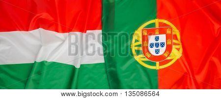 Hungary and Portugal flag