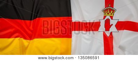 Northern Ireland and Germany flag
