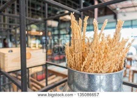 Natural wheat grains