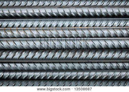 reinforcing bar close-up