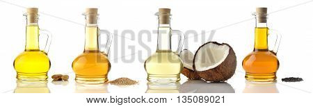 Cooking Oils Shot in Studio on White Background