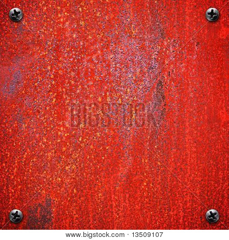 rusty red metal background