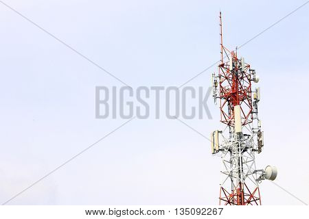Satellite pillar base station.Satellite dish,Signal telecommunication base station