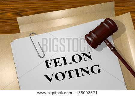 Felon Voting Legal Concept