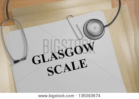 Glasgow Scale Medical Concept