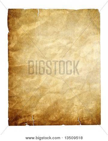Vintage papel aislado con trazado de recorte