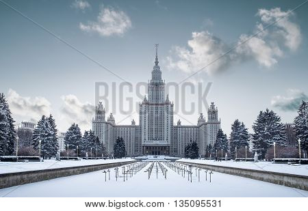 Lomonosov Moscow State University building, Moscow, Russia