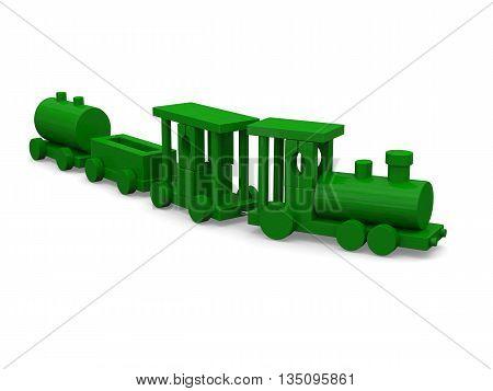Green Toy Train