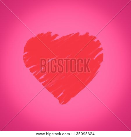 Abstract Valentine's day background with love hearts