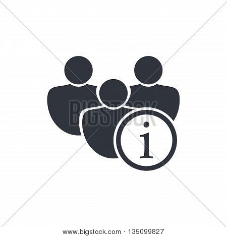User Info Icon In Vector Format. Premium Quality User Info Symbol. Web Graphic User Info Sign On Whi