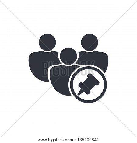 User Pin Icon In Vector Format. Premium Quality User Pin Symbol. Web Graphic User Pin Sign On White