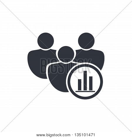 User Stats Icon In Vector Format. Premium Quality User Stats Symbol. Web Graphic User Stats Sign On