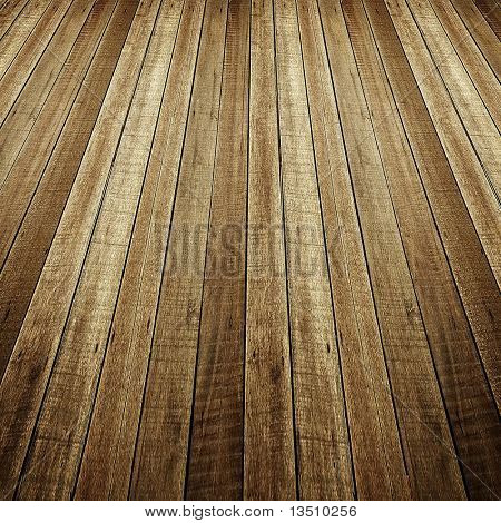 perspective of wood plank