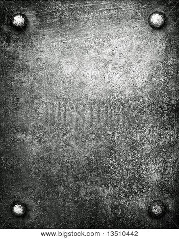 placa de metal com spike