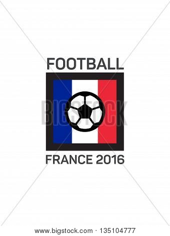 Football or soccer  logo. French tricolor. The concept of soccer logo, symbol, sign.