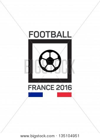 Football or soccer  logo. The concept of soccer logo, symbol, sign. French tricolor.