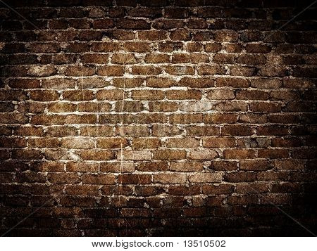Fondo de pared de ladrillo de Grunge