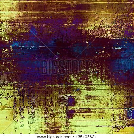Retro vintage style background or faded texture with different color patterns: yellow (beige); brown; blue; purple (violet); pink