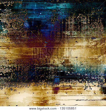 Abstract vintage colored background. With different color patterns: yellow (beige); brown; blue; purple (violet); black