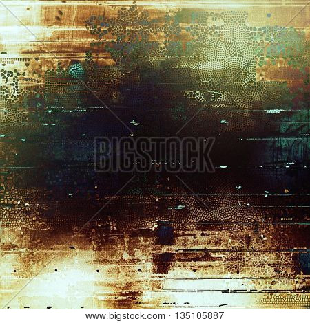 Grunge retro composition, textured vintage background. With different color patterns: yellow (beige); brown; green; blue; black; white