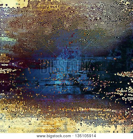 Retro style grunge background, mottled vintage texture. With different color patterns: yellow (beige); brown; blue; purple (violet); black