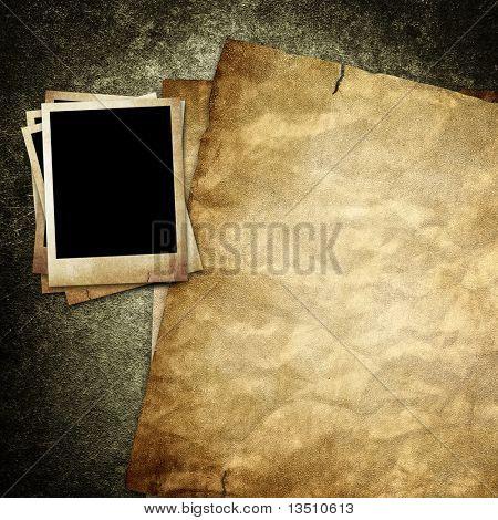 Foto y papel vintage