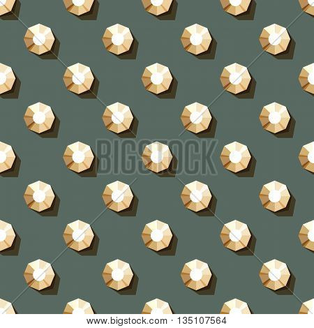 vector seamless pattern of rhinestones on dark background