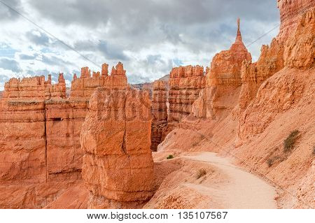 natural path in Bryce Canyon National Park in Utah USA