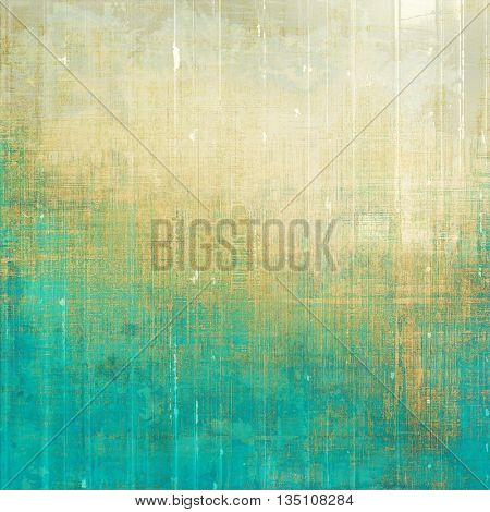 Grunge texture in ancient style, aged background with creative decor and different color patterns: yellow (beige); brown; green; blue; cyan