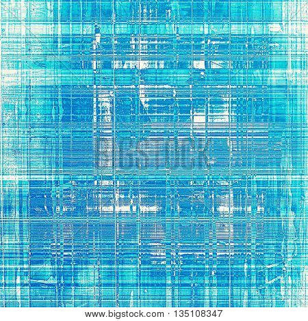 Grunge background with vintage style graphic elements, retro feeling composition and different color patterns: blue; cyan; white