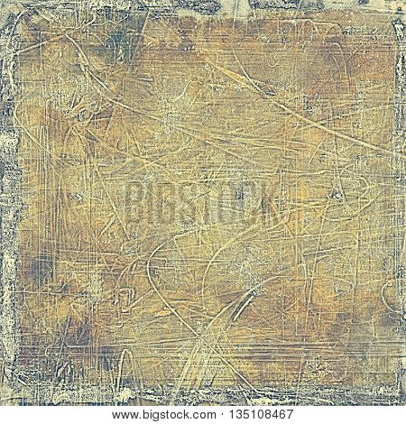 Vintage style designed background, scratched grungy texture with different color patterns: yellow (beige); brown; gray; black