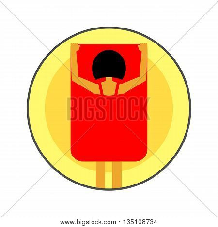 Exhibitionism vector icon. Colored line icon of female exhibitionist