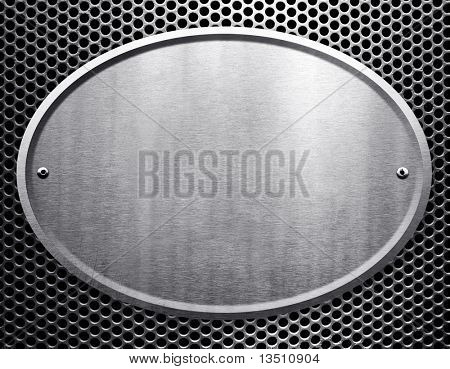 oval metal sign