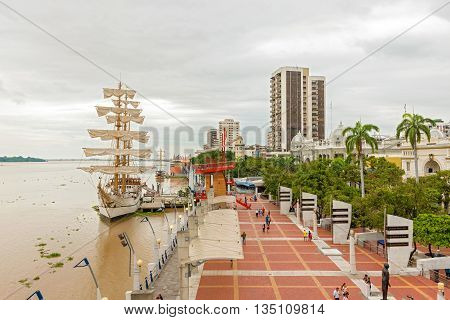 View At Malecon 2000 In Guayaquil,  Ecuador.