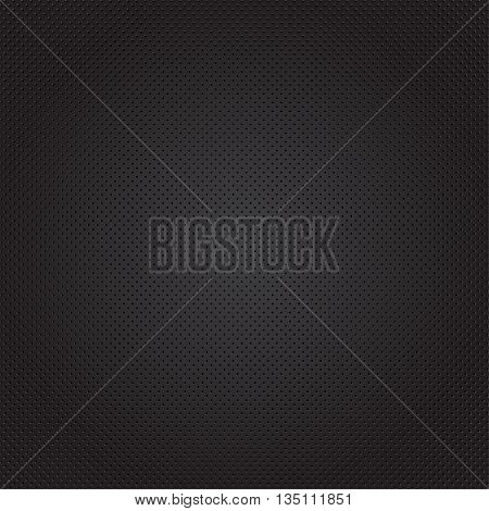 Black texture background with circles. Vector illustration