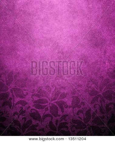 purple floral wallpaper