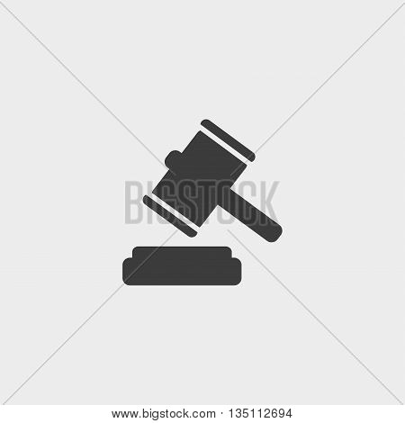 auction icon in a flat design in black color. Vector illustration eps10