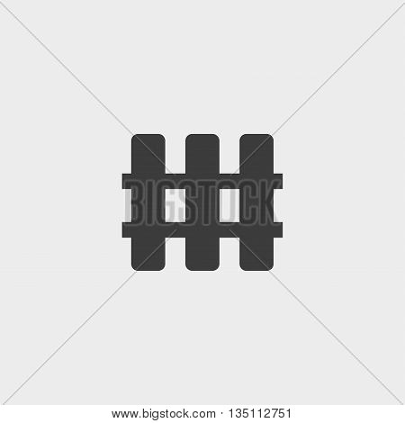 fence icon in a flat design in black color. Vector illustration eps10