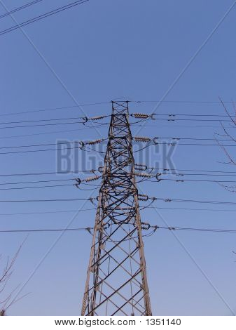 Metal Pylon Under Blue Sky