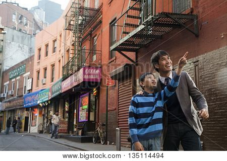 Asian brothers in chinatown