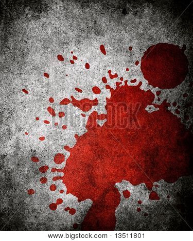 red paint splash on grunge background