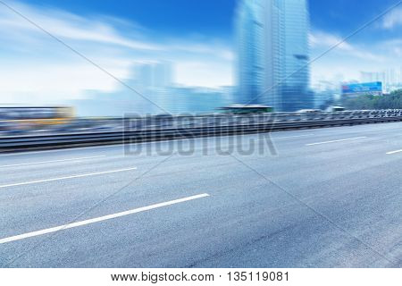 traffic on highway,with city background,chongqing