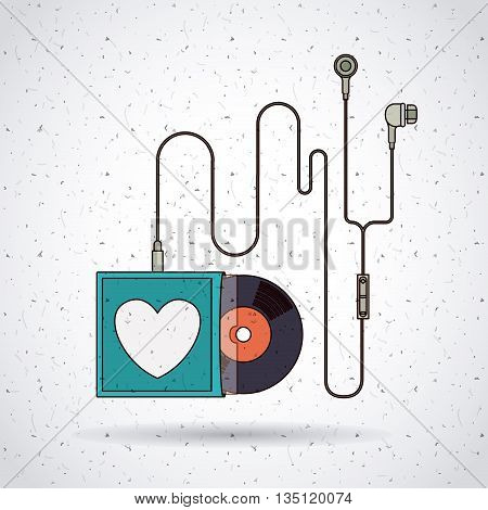 music record design, vector illustration eps10 graphic